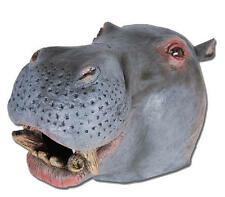Hippo Overhead Rubber Mask Fancy Dress Costume Outfit Prop Hippos Head