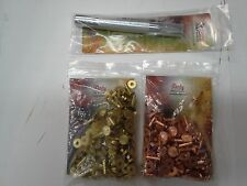"Tandy 3/4"" #12 Copper & Brass Rivets & Burrs (75pk ea.) + Setter #12 **Fast F/S!"