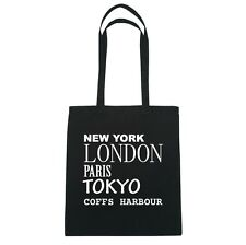New York, London, Paris, Tokyo COFFS HARBOUR  - Jutebeutel Tasche - Farbe: schwa