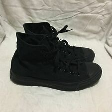 UNISEX CONVERSE ALL STAR CHUCK TAYLOR - SOLID BLACK ( SIZE MEN'S 8 WOMEN'S 10 )