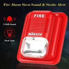 Super Loud Fire Alarm Siren Sound + Bright Strobe for Home Office Security Q0V4