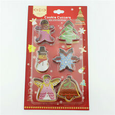 6pcs Set Snowman Christmas Metal Mold Cookie Biscuit Cake Cutter Pastry Mould