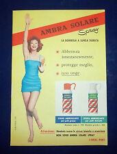 A086-Advertising Pubblicità-1959-AMBRA SOLARE SPRAY - ABBRONZANTE