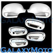 97-03 Ford F150 Chrome Full Mirror+4 Door+Keypad+WITH PSG Keyhole Handle Cover