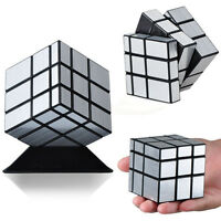 Silver 3x3x3 Speed Twist Puzzle Magic Cube Rubik Classic Rubix Toy Game Kids