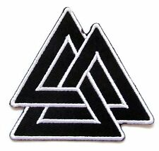 Valknut Symbol Iron On Patch- Embroidered Mythology Norse Badge Applique Sew