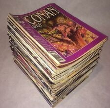 Conan Saga Marvel Comics Huge Magazine Lot 74 Total Mags