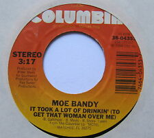 "MOE BANDY - It Took A Lot Of Drinkin' - Ex Con 7"" Single Columbia 38-04353"
