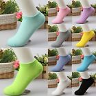 Low Cut 10 Pairs Ladies Short Cotton New Women Ankle Socks Gift Pink Blue