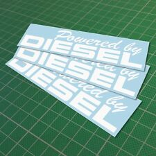 Powered By Diesel Decal Vinyl Funny Car Window JDM Euro Sticker 150 mm 6''