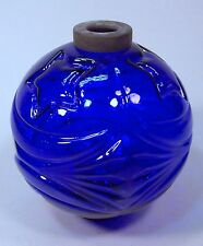 Cobalt Blue Moon And Stars Lightning Rod Ball--No Damage