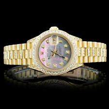 Rolex 18K 3.00ct Diamond Presidential Ladies Watch Lot 279
