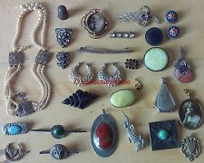 collection of antique VICTORIAN and later JEWELLERY brooches EARRINGS NECKLACES