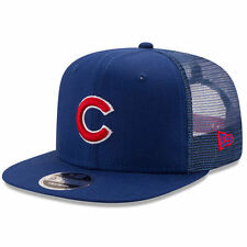 New Era Chicago Cubs Royal Trucker Patched 9FIFTY Snapback Adjustable Hat - MLB