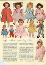 1955 PAPER AD 4 PG Baby Trix Doll Dolls Babee Bee Waking Cindy Strutter Boy