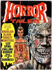 HORROR TALES November 1970 - B&W horror magazine - 1950s comics reprints