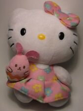 HELLO KITTY SANRIO Plush Ty Beanie Easter Chick Bunny Dress Free US Ship 2015 6""