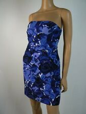 Ann Taylor Blue White Silk Blend Floral Print Sheath Dress 0 Petite NEW A798