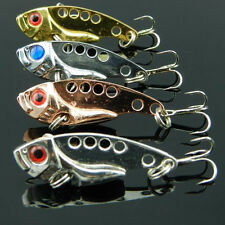 4pcs Metal Fishing Lures Bass CrankBait Spoon Crank Bait Tackle