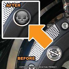 Brembo Front Brake Caliper Insert Set For Harley - GREY SKULL - 085