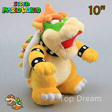 New Super Mario Bros. Plush Bowser Koopa Soft Toy Stuffed Animal Doll Teddy 10""