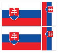 4 X SLOVAK SLOVAKIA FLAG VINYL CAR VAN IPAD LAPTOP STICKER