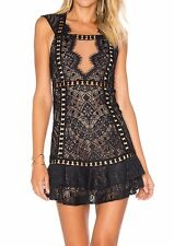 "***NEW FOR LOVE & LEMONS ""EMERIE"" LACE DRESS IN BLACK SIZE SMALL S***"