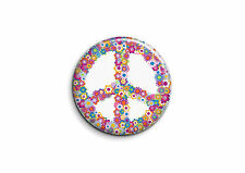 Peace and Love - Fleurs 2 - Badge 56mm Button Pin