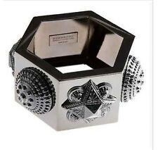 BURBERRY Warrior Cuff Hexagon Bracelet Bangle Jewelry w Box Retail: $915