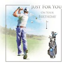 Just For You On Your Birthday Golf Course Swing Design Male  Happy Birthday Card