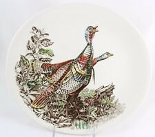 FAB SET 4 OVAL PLATES VINTAGE JOHNSON BROS CHINA ENGLAND GAME BIRDS COLLECTION