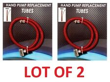 2x Hand Pump Bicycle Portable Air Tube Hose Head Replacement Inflator Universal