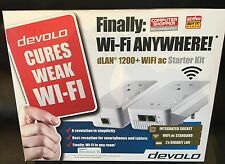 9392 Devolo DLAN 1200 PLUS WIFI AC STARTER KIT 2 X PLUGS (aka: DVL9392) - 9392