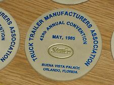 6 LEATHER COASTERS STEMCO TRUCK TRAILER MFR ASSOC 43RD ANNUAL CONVENTION 1985