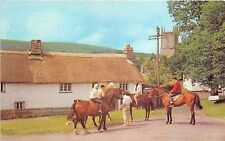 B89137 a peaceful scene at north bovey devon horse riding   uk 14x9cm