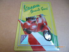 TARGA IN METALLO PLAQUE SIGNE VESPA GS GRAN SPORT MOTO GUZZI,MV AGUSTA,ABARTH