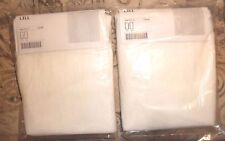 "NIP IKEA *LILL* 110"" x 98"" SHEER WHITE CURTAINS - 2 PAIRS IN UNOPENED PACKAGES"