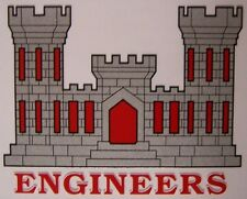 Window Bumper Sticker Military Army Corps of Engineers NEW Decal