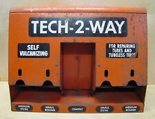 Old TECH-2-WAY Tube Repair Gas Station Repair Shop Auto Parts Sign Store Display