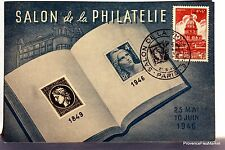 CPA MAXIMUM  POSTCARD INVALIDES DE GUERRE   SALON DE LA PHILATELIE 1946  Yy 751