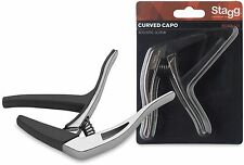 STAGG SCPX-CU Curved trigger capo for acoustic/electric GUITAR CHROME
