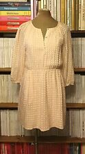 MADEWELL 100% silk pink dress UK 12 US 8 'Mackenzie' shirred peasant $158