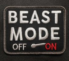 BEAST MODE ON ARMY USA MILITARY MORALE TACTICAL COMBAT BADGE SWAT VELCRO PATCH