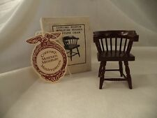 NOS Dollhouse Miniature Concord Museum 3034 Wood Captains Dining Side Chair 1:12