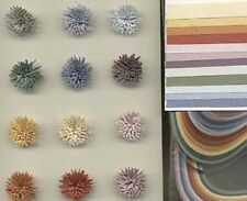 """Quilling Paper Strips SPECK-TACULAR Color Assortment 1/8""""wd 50pc 12 Colors"""