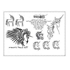 The Last Unicorn Tattoo Waterproof Body Art Stickers Removable