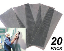 20 Pack Assorted Gyprock / Plaster Sanding Screens 93 x 230mm