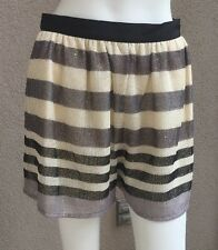 NWT BCBG Generation Woman Or Junior Shorts Striped Fully Lined Polyester SZ 6