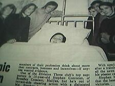 news item 1970 football halifax town stephen corcoran dislocated hip