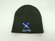 Scottish Saltire Flag Black & Grey Reversible Beanie Hat Brand New With Tags